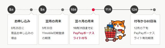 PayPayの付与スケジュール