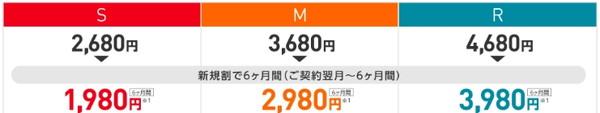 新規割で700円OFF